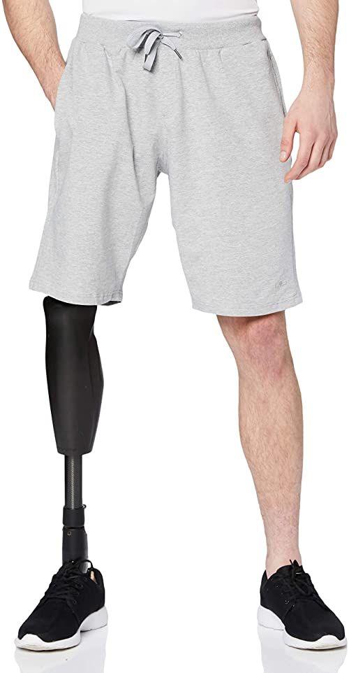 CMP Męskie spodnie Cotton Bermuda Stretch Fabric szary szary melanż 50