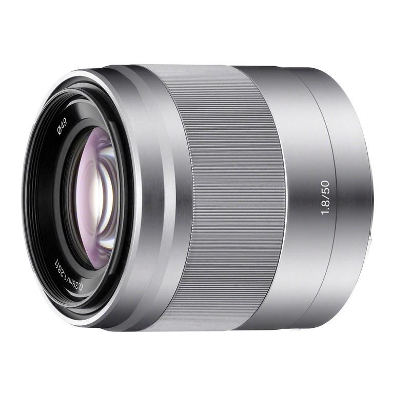 Obiektyw Sony E 50mm f/1,8 Srebrny (SEL50F18)