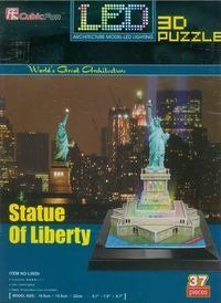 Puzzle 3D Led Statua Wolności