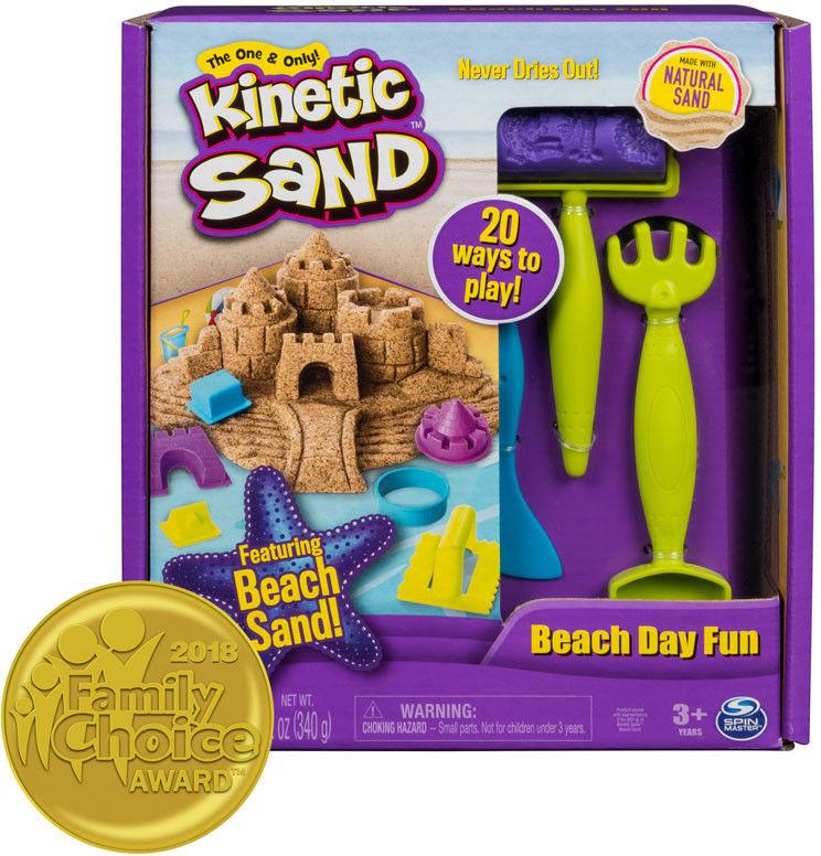 Kinetic Sand - Dzień na plaży brązowy piasek z akcesoriami 20087447