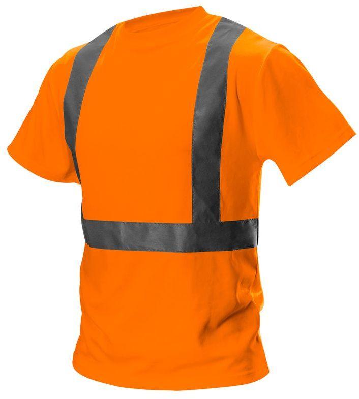 T-shirt ostrzegawczy, pomarańczowy, rozmiar S 81-733-S