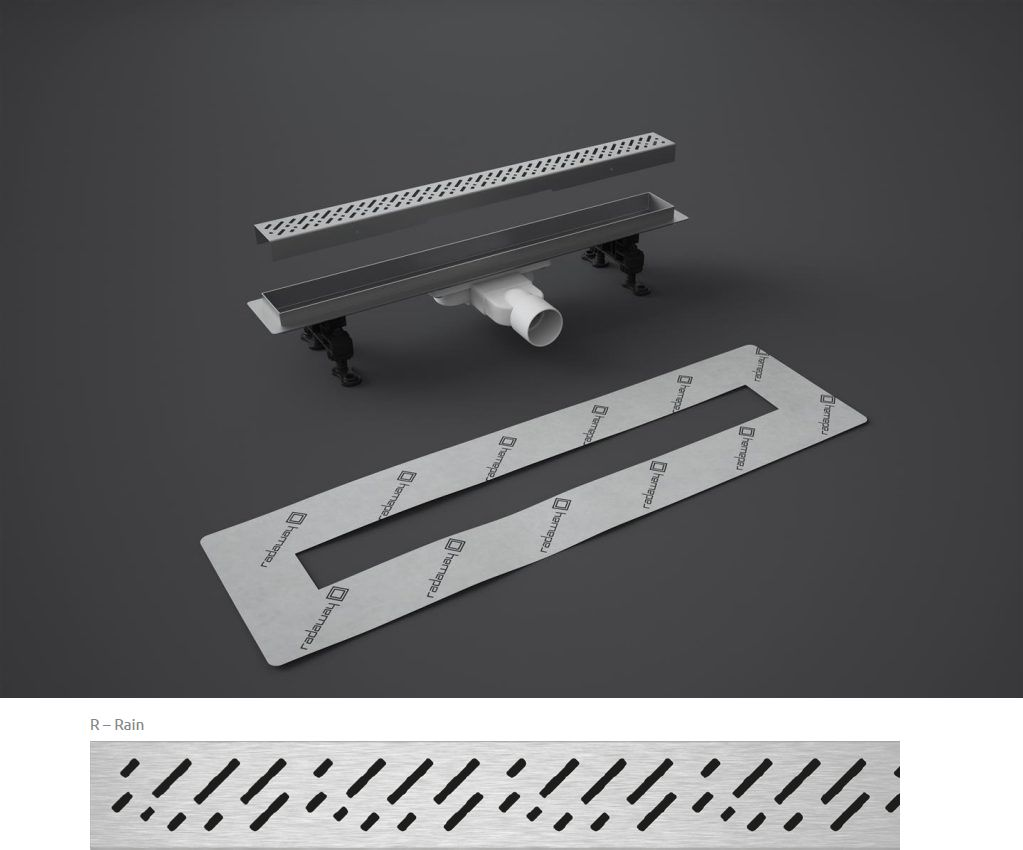Odpływ liniowy Slim Radaway 95x6cm Rain 5L095S 5R095SR