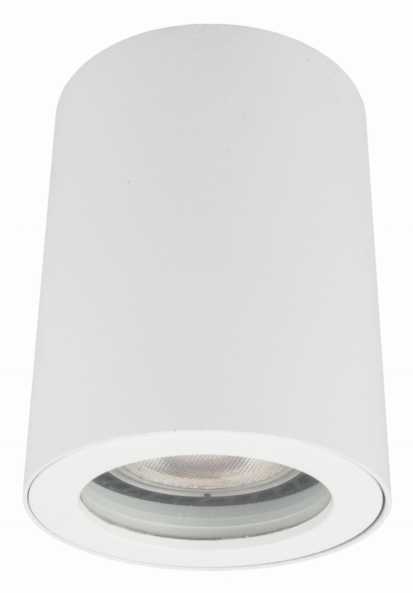 Light Prestige Faro LP-6510/1SM WH oprawa stropowa natynkowa metalowa biała 1x50W GU10 IP65 8,8cm