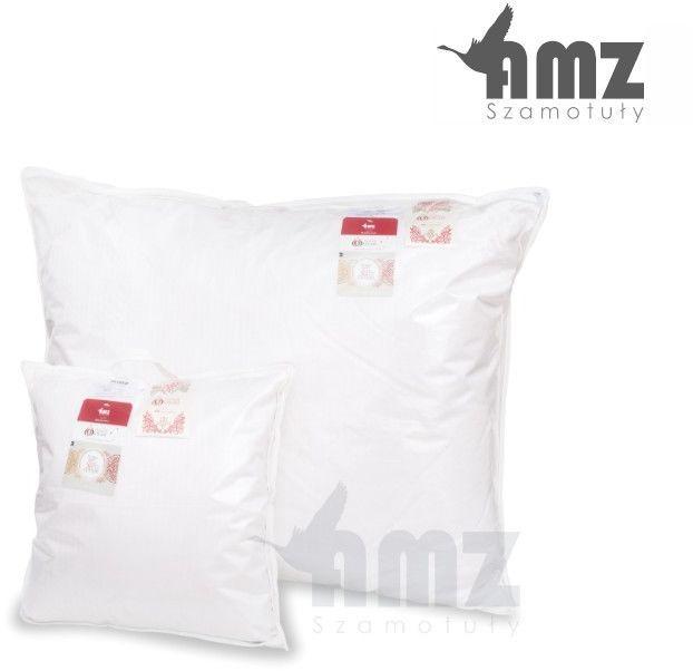 Poduszka puchowa AMZ Natural Outlast, Kolor - biały, Poduszka - 1-komorowa, Rozmiar - 80x80 NAJLEPSZA CENA, DARMOWA DOSTAWA