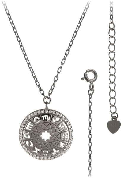 Srebrny naszyjnik 925 zawieszka znaki zodiaku 3,2g