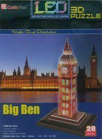 Puzzle 3D Led Zegar Big Ben