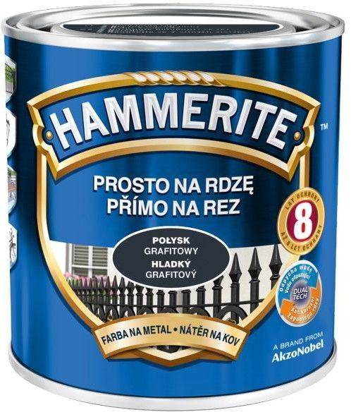 Farba do metalu Hammerite Prosto Na Rdzę połysk grafitowy 0,7 l
