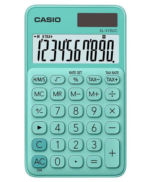 Kalkulator Casio SL-310UC-GN TAX CZAS PAMIĘĆ