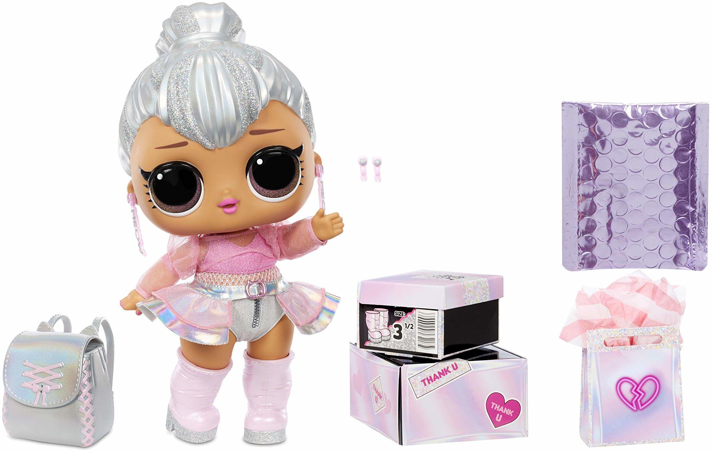 LOL Surprise Big Baby. Kitty Queen Duża Lalka Modowa z Niespodziankami, Butami, Ubraniami i Akcesoriami. Zawiera Biurko, Krzesło i Tło. Kolekcjonerskie Lalki Dla Dzieci w Wieku Od 3 Lat
