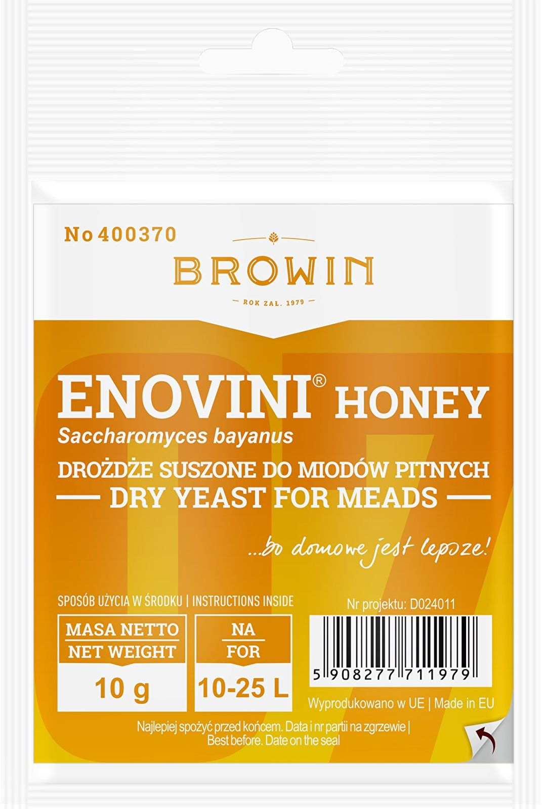 Drożdże winiarskie Enovini  Honey, 10 g
