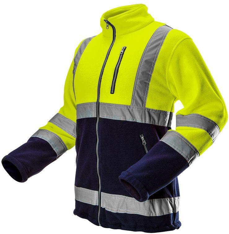 Bluza polarowa ostrzegawcza, żółta, rozmiar S 81-740-S