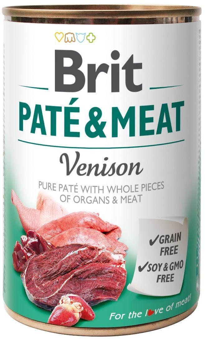 BRIT - Pate&Meat venison pies puszka 400g