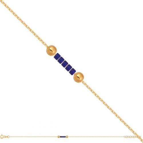 Złota bransoletka damska łańcuszkowa Br707