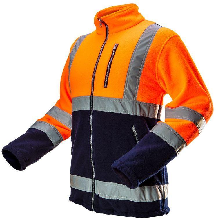 Bluza polarowa ostrzegawcza, pomarańczowa, rozmiar S 81-741-S