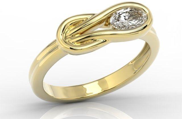 Pierścionek z żółtego złota z białym topazem swarovski bp-69z