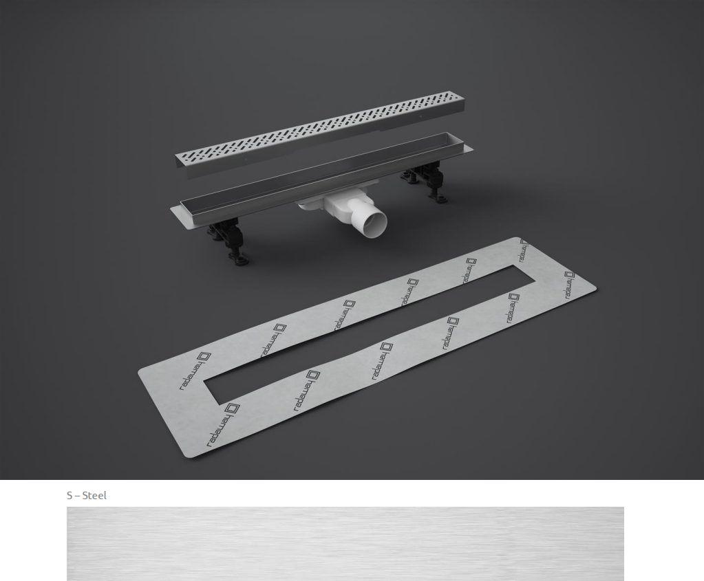 Odpływ liniowy Slim Radaway 95x6cm Steel 5L095S 5R095SS