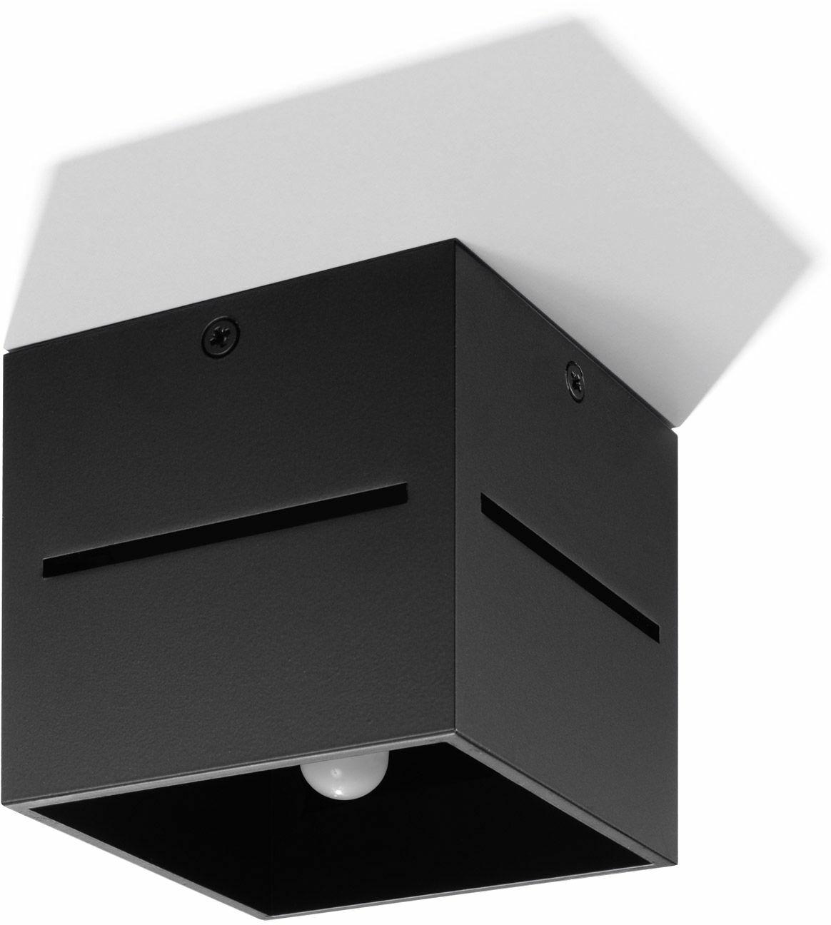 Nowoczesny plafon kostka E798-Lobi - czarny