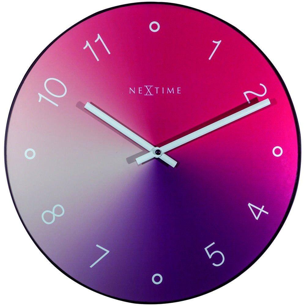 """Nextime - zegar ścienny """"gradient"""", czerwony - czerwony"""