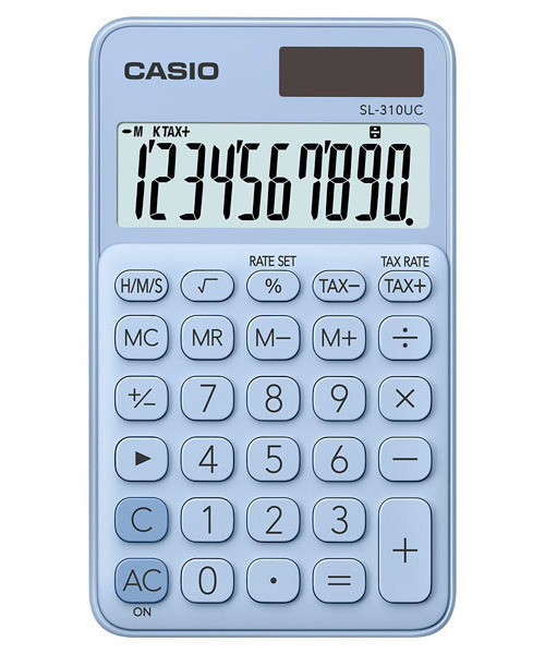 Kalkulator Casio SL-310UC-LB TAX CZAS PAMIĘĆ