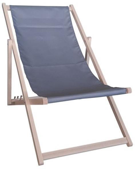Drewniany leżak, grafitowy Swing Sunbed