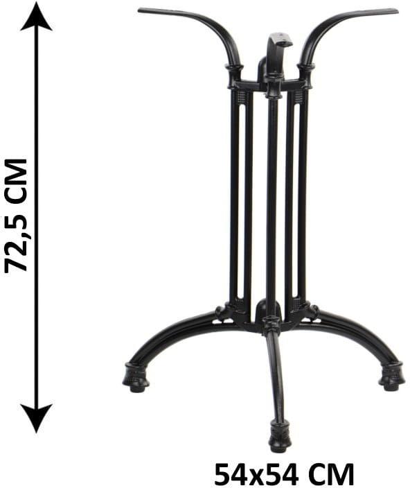 Podstawa stolika żeliwna SH-5029-L/B, (stelaż stolika), kolor czarny