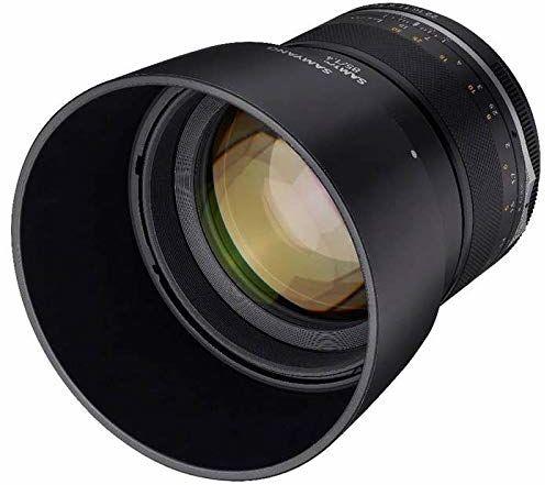 SAMYANG 22995 MF 85 mm F1,4 MK2 Fuji X  ręczna regulacja ostrości do pełnoklatkowego obiektywu i APS-C stała ogniskowa Fuji X Mount, 2 generacja dla Fujifilm X-T1, X-T30, X-Pro3, X-T200, X-T4