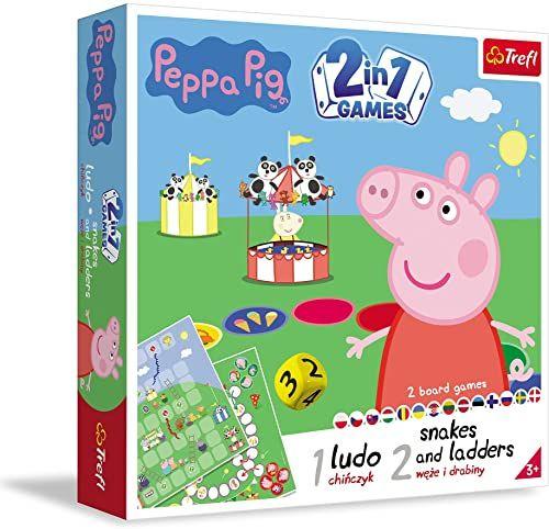 Trefl Chińczyk/Węże i Drabiny/Peppa Pig, Gra 2w1 dla Dzieci od 4 lat