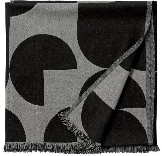 AYTM - FORMA Narzuta - Pled 170x130 cm Czarno Szary