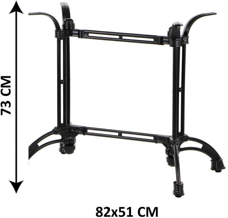 Prostokątna podstawa stolika żeliwna SH-5027/B, (stelaż stolika), kolor czarny