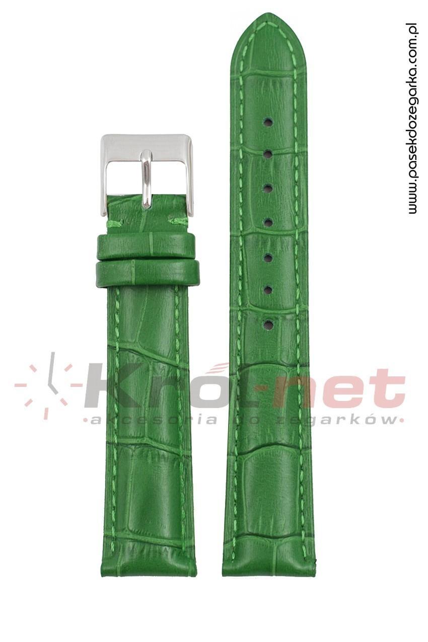 Pasek Tekla TK110Z/12 - zielony, faktura krokodyla