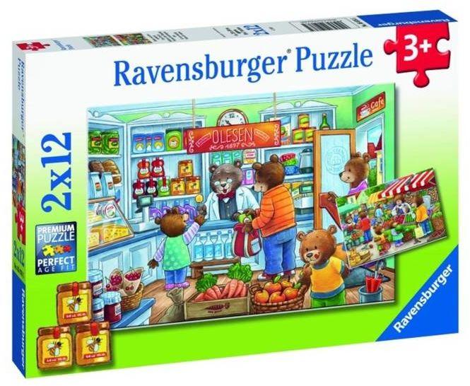 Puzzle 2x12 W supermarkecie - Ravensburger