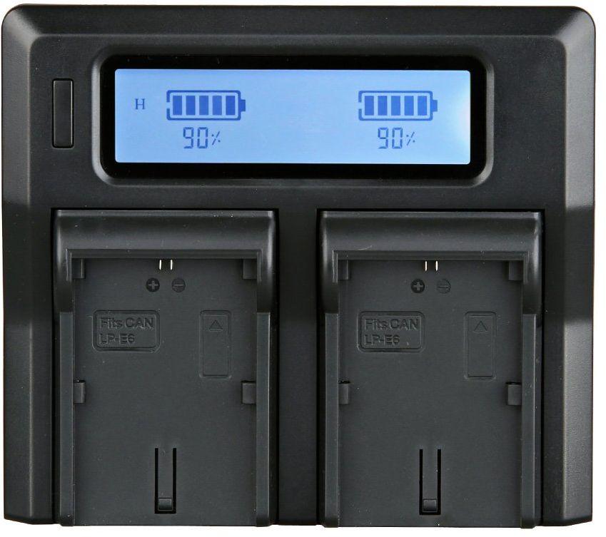 ayex Podwójna ładowarka do akumulatorów litowo-jonowych Sony NP-FW50 z wymiennymi stacjami ładowania