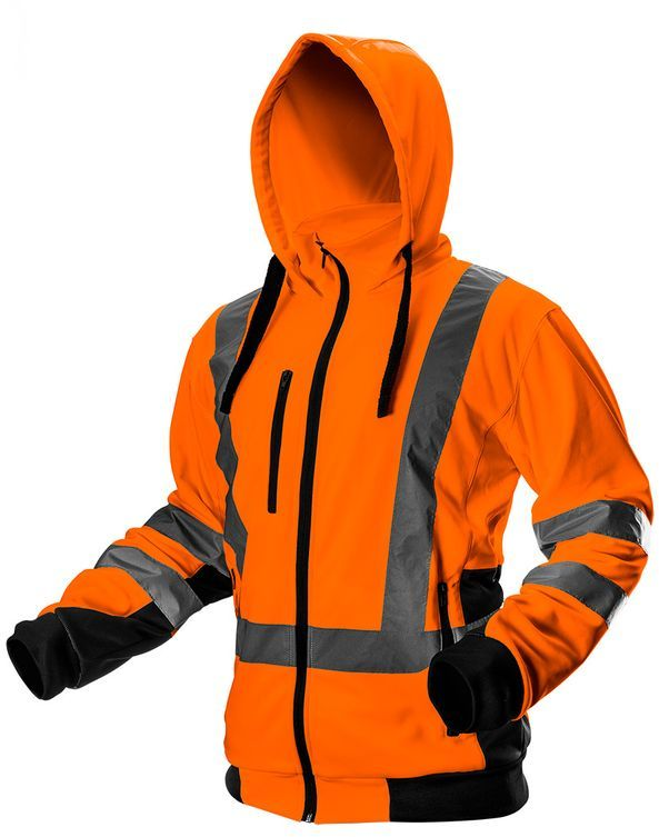 Bluza robocza ostrzegawcza, pomarańczowa, rozmiar L 81-746-L