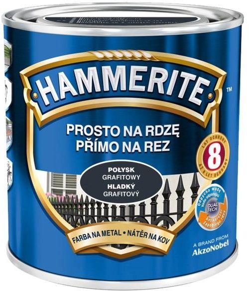Farba do metalu Hammerite Prosto Na Rdzę połysk grafitowy 2,5 l