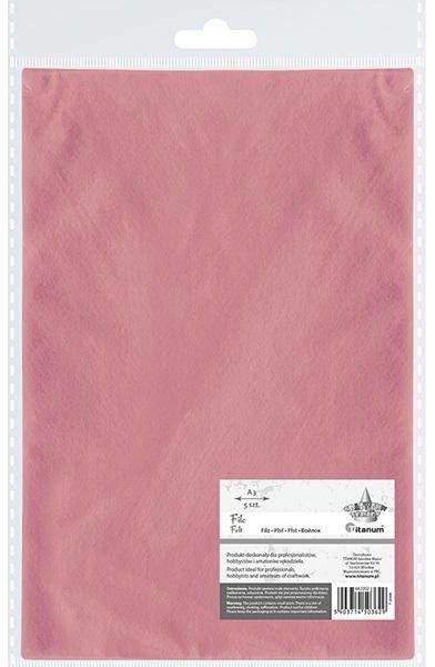 Filc A3 różowy 5szt - Titanum