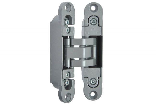 Zawias niewidoczny OTLAV Invisacta 230 do drzwi z odwróconą przylgą, satyna (F1) (nośność dwóch zawias 60kg)