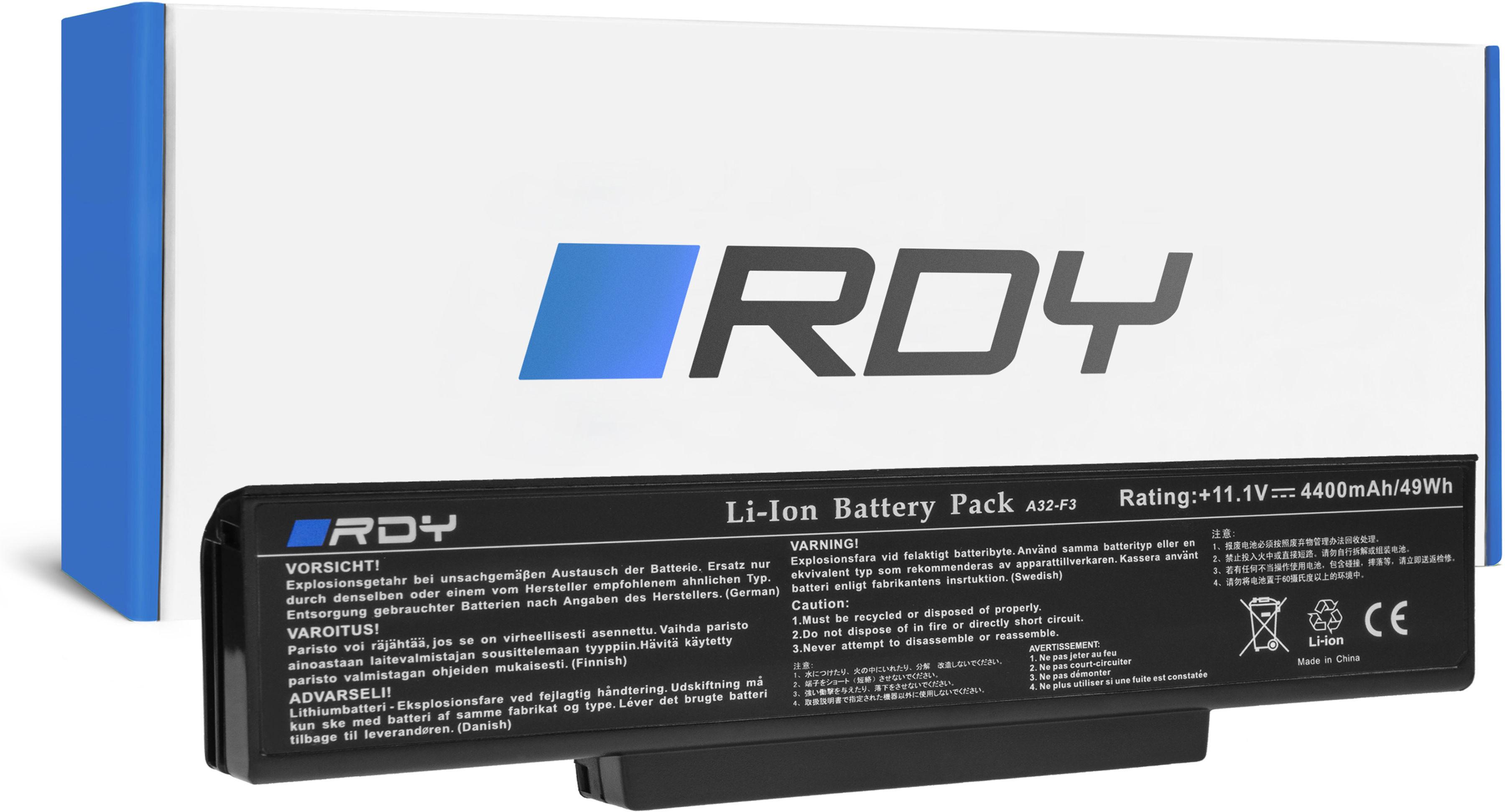 Bateria RDY A32-F3 A33-F3 do Asus F2 F3 F3E F3F F3J F3S F3SG F3T F3U M51 M51A