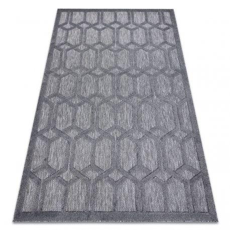 Dywan SANTO SZNURKOWY SIZAL 58385 heksagon, sześciokąt antracyt 80x150 cm