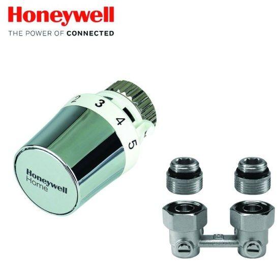 Zestaw Term. Kątowy Honeywell Głowica Thera 5 Biała-Chrom Verafix VK