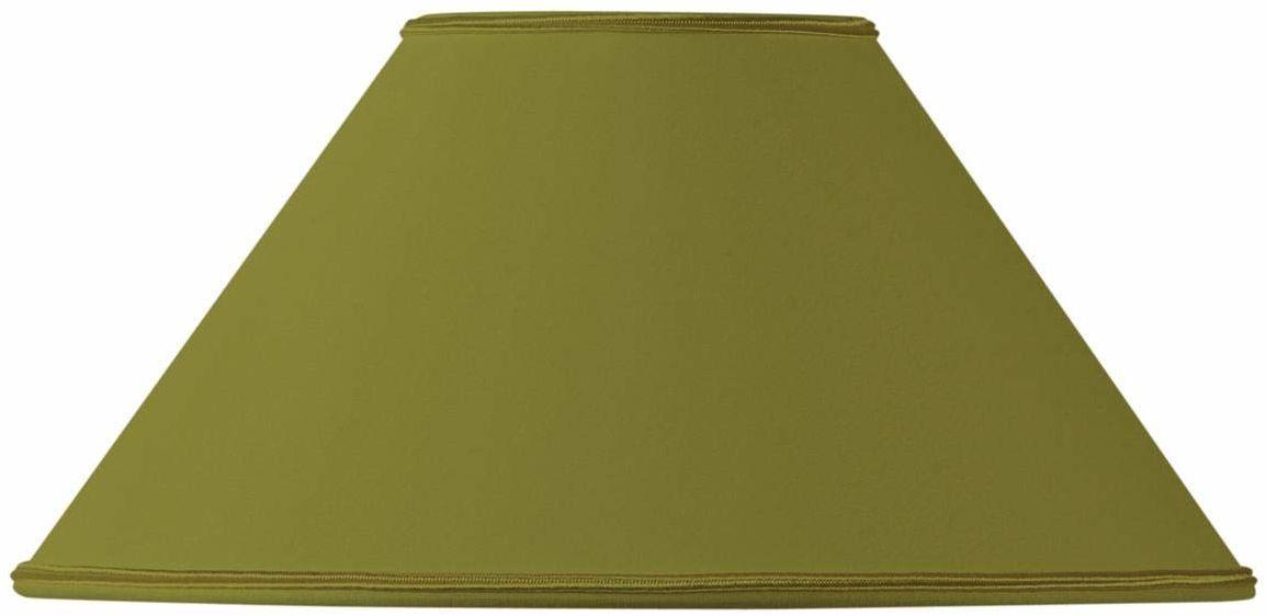 Klosz lampy w kształcie retro, 40 x 13 x 23 cm, zielony/brąz