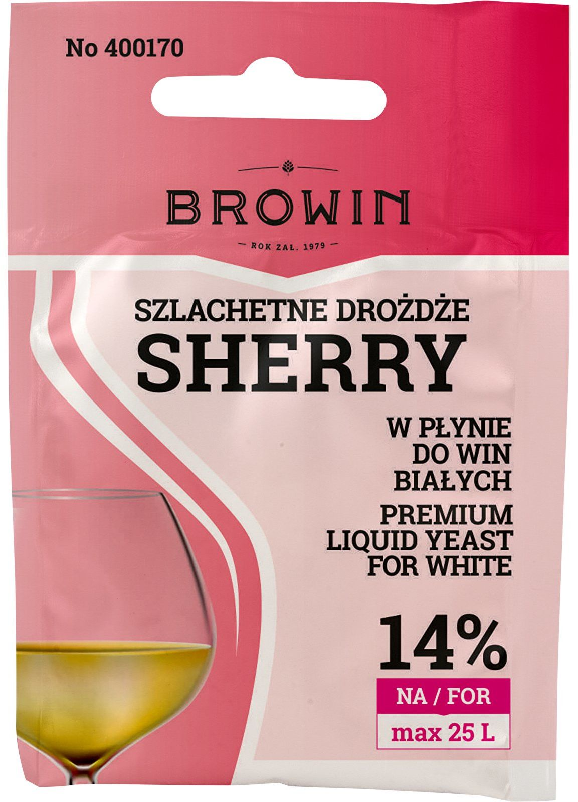 Drożdże winiarskie Sherry, 20 ml