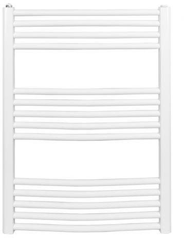 Grzejnik łazienkowy york - wykończenie zaokrąglone, 600x800, biały/ral