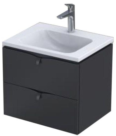 Oristo Siena szafka z umywalką 60x50x46 czarny mat OR45-SD2S-60-8/UME-CE-60-91