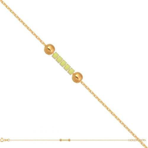 Złota bransoletka damska łańcuszkowa Br706