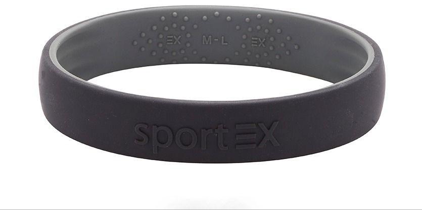 Silikonowa bransoletka magnetyczna sport ex 3191-11 dla sportowców czarna