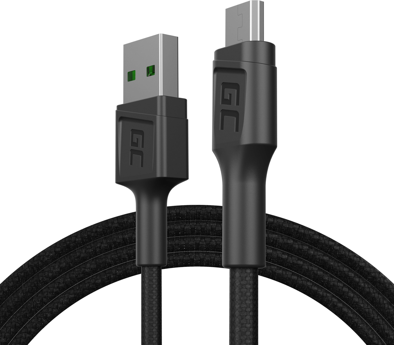 Kabel Green Cell GC PowerStream USB-A - Micro USB 120cm, szybkie ładowanie Ultra Charge, QC 3.0