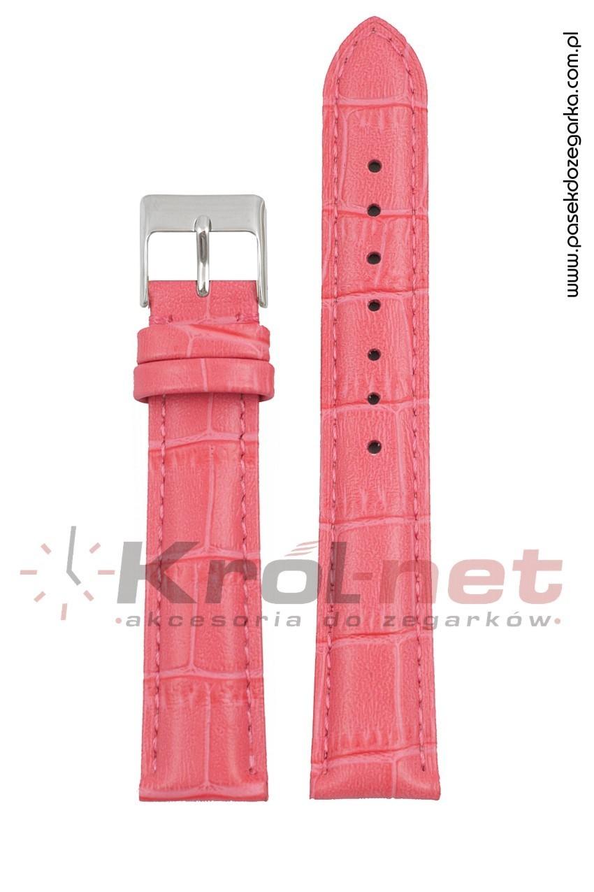Pasek Tekla TK110R/14 - różowy, faktura krokodyla