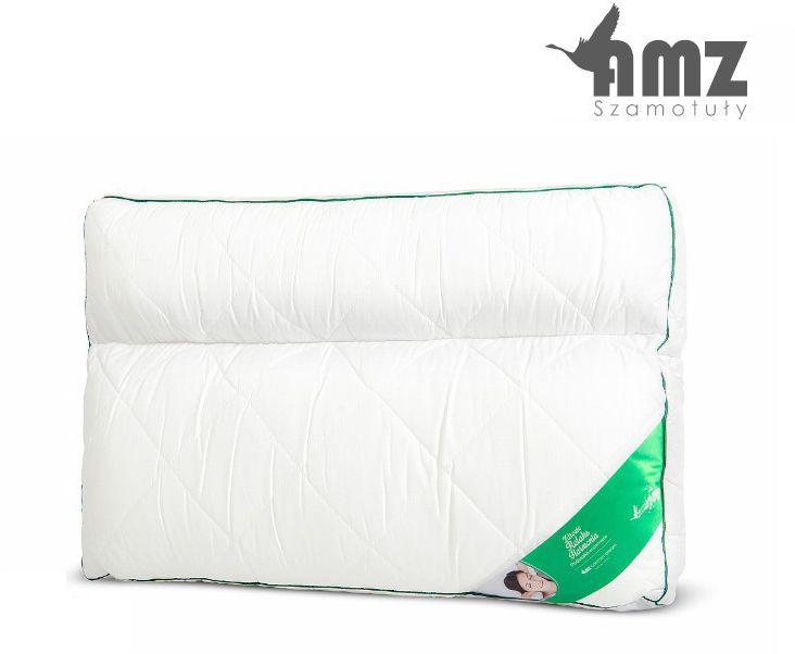 Poduszka anatomiczna AMZ 2-komorowa materacowa, Rozmiar - 50x60, Poduszka - mikrofibra NAJLEPSZA CENA, DARMOWA DOSTAWA