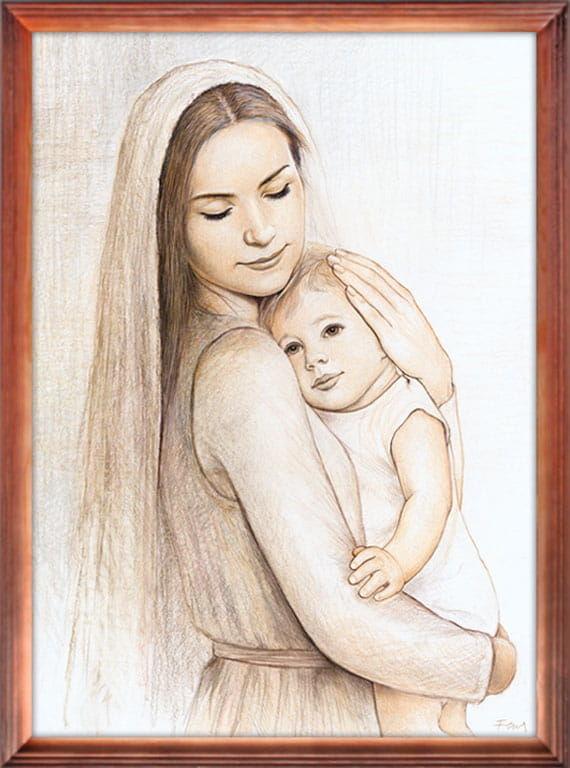 Obraz religijny Matka Boża z Dzieciątkiem Jezus