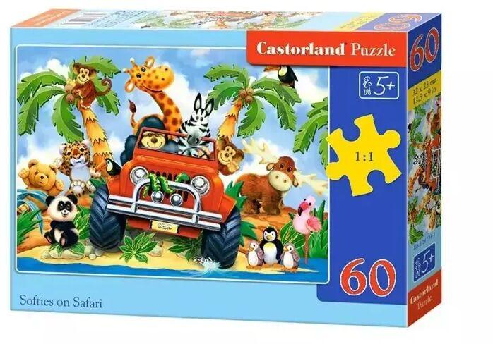 Puzzle 60 Softies on Safari CASTOR - Castorland